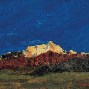 123 Wen Lipeng, The Gold Mountain, oil on cardboard, 27 x 35 cm, 1997