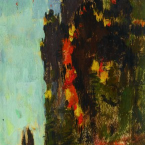 127 Wen Lipeng, Huangshan Mountain in the Autumn, oil on cardboard, 25.2 x 18.3 cm, 1962