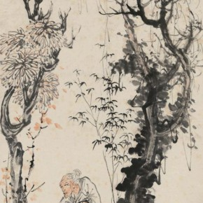 13 Wang Yun Autumn Trees with the Characters color and ink on paper 77 x 35 cm 290x290 - Artists of the People: Exhibition of Paintings Collected by Lao She and Hu Jieqing opened at the National Art Museum of China