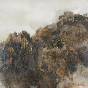 139 Wen Lipeng, The Heavy Mountains, oil on canvas, 27 x 35 cm, 2002