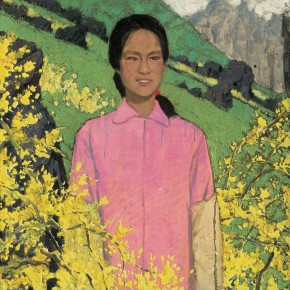 14 Wen Lipeng, Chunni from Taihang Mountains, oil on cardboard, 80 x 80 cm, 1980