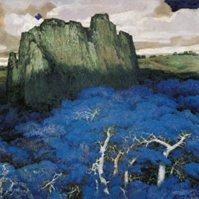 149 Wen Lipeng, To the Plateau, oil on canvas, 162 x 260 cm, 1998