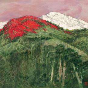 150 Wen Lipeng, The Azaleas No.1, oil on canvas, 92 x 157 cm, 2009