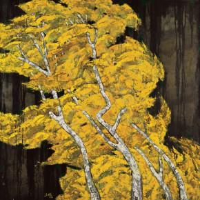 151 Wen Lipeng, Meeting the Winter No.2, oil on canvas, 116 x 116 cm, 1992