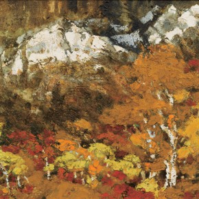 153 Wen Lipeng, Under the Snow Mountains, oil on canvas, 1997