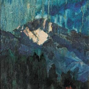 157 Wen Lipeng, Sunset Glow, oil on canvas, 27 x 25.5 cm, 1997
