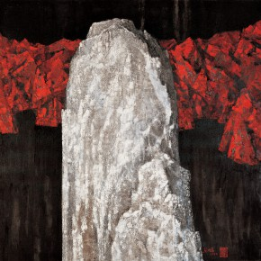 159 Wen Lipeng, The Monument without a Word No.5, oil on canvas, 116 x 116 cm, oil on canvas, 1993