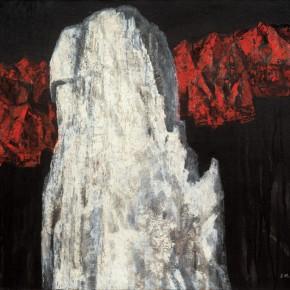 160 Wen Lipeng, The Monument without a Word No.3, oil on canvas, 80.3 x 100 cm, oil on canvas, 1990