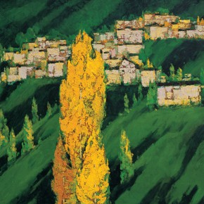 163 Wen Lipeng, Love of the Mountain Area, oil on canvas, 91 x 72 cm, oil on canvas, 1992