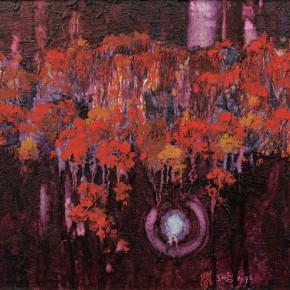 165 Wen Lipeng, The Dreamed Autumn, oil on canvas, 27 x 35 cm, 1996