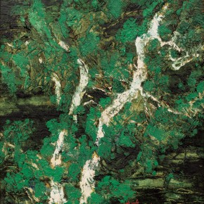 166 Wen Lipeng, In the Green Shadow, oil on canvas, 27 x 25.5 cm, 1996