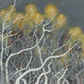 168 Wen Lipeng, In the Forest, oil on fiber board, 50 x 61 cm, 1988