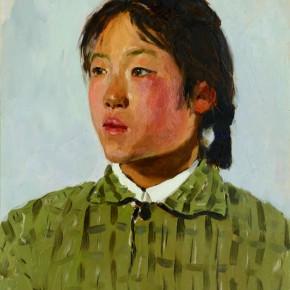 17 Wen Lipeng, Shen Shuping from Shimen Power Station, oil on cardboard, 40.5 x 32 cm, 1975