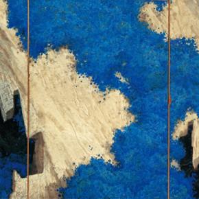 170 Wen Lipeng, The Blue Memory, oil on board, 162 x 302 cm, 1987