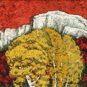 171 Wen Lipeng, The Golden Autumn, oil on board, 80 x 60 cm, 1992