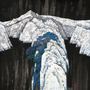 172 Wen Lipeng, Symphony of Blue, White and Black, 140 x 140 cm, 2007