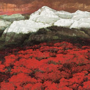 173 Wen Lipeng, Symphony of Red, White and Black, 113 x 182 cm, 2005