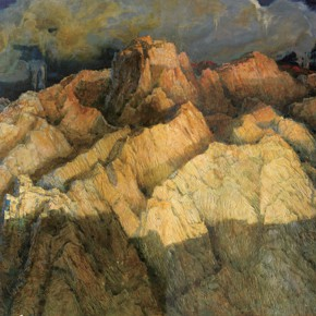 174 Wen Lipeng, The Ridges, oil on canvas, 162 x 260 cm, 2000