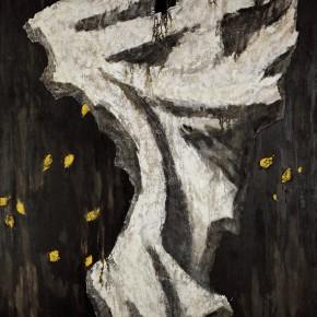 181 Wen Lipeng, The Whistling Wind, oil on board, 162 x 130 cm, 1993