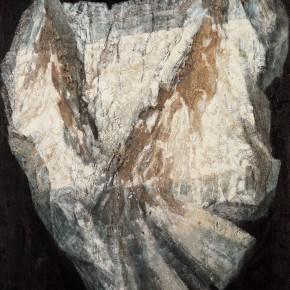 185 Wen Lipeng, White Stone Series Pathetique No.2, oil on fiber board, 100 x 80 cm, 1990