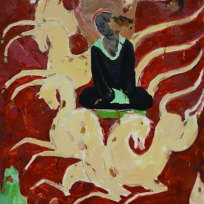 188 Wen Lipeng, The Bodhisattva Going to a Meeting, oil on paper, 51.6 x 38.2 cm, 1978