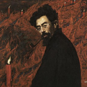189 Wen Lipeng, Red Candle, oil on canvas, 70.5 x 100 cm, 1979