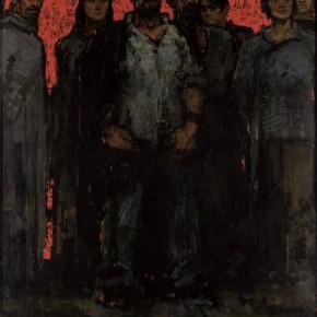 193 Wen Lipeng, The Internationale (detail), oil on board, 240 x 200 cm, 1963 (1)