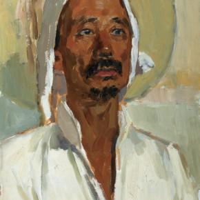 22 Wen Lipeng, The Senior Man from Shanxi, oil on cardboard, 39 x 53 cm, 1976
