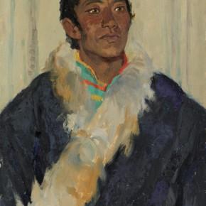 24 Wen Lipeng, Bianzhaipujia from Qinghai Lake, oil on cardboard, 54.2 x 39.6 cm, 1978