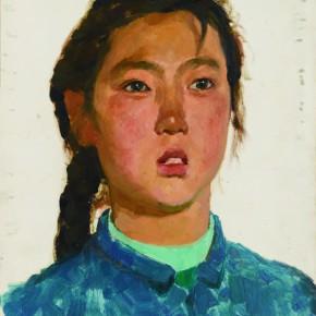 25 Wen Lipeng, Qiaoyun, 34.5 x 27.2 cm, oil on cardboard, 1973