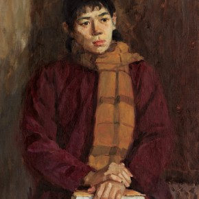 29 Wen Lipeng, A Young Woman, oil on canvas, 60 x 40 cm, 1975