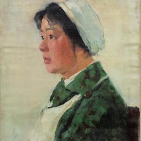 30 Wen Lipeng, The Forewoman's Portrait, oil on cardboard, 44.3 x 37 cm, 1975