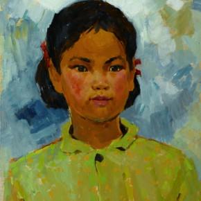 32 Wen Lipeng, A Rural Girl, oil on cardboard, 40 x 32.8 cm, 1973