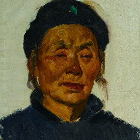 34 Wen Lipeng, The Granny of Mancheng County, oil on cardboard, 29.3 x 25.5 cm, 1973