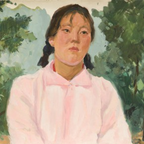 36 Wen Lipeng, A Girl from Lin County, oil on cardboard, 39.5 x 53.8 cm, 1976