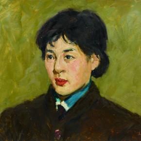 41 Wen Lipeng, A Nurse, oil on cardboard, 37.5 x 51 cm, 1977