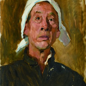 44 Wen Lipeng, A Senior Farmer from Hebei, oil on cardboard, 44.2 x 34 cm, 1973