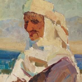 47 Wen Lipeng, The Senior Kazakhstan Woman, oil on cardboard, 30 x 25 cm, 1961