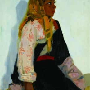 63 Wen Lipeng, A Tibetan Girl, oil on cardboard, 39.5 x 35 cm, 1978