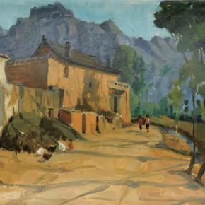 69 Wen Lipeng, Matian in Zuoquan, oil on cardboard, 36.4 x 54.4 cm, 1977