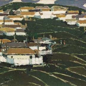 71 Wen Lipeng, Memory of Yanbian, oil on cardboard, 37.4 x 52.4 cm, 1980