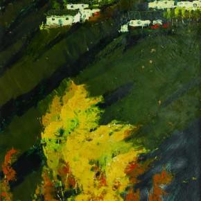 74 Wen Lipeng, The Autumn of Wangwu Mountain, oil on cardboard, 44.8 x 36.2 cm, 1979