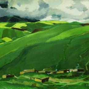 81 Wen Lipeng, Qilian of Qinghai, oil on cardboard, 39 x 54.6 cm, 1978