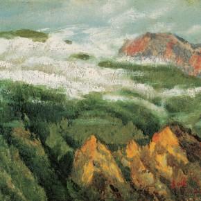 92 Wen Lipeng, The Flowing Clouds, oil on cardboard, 27 x 35 cm, 2002
