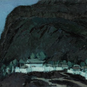 94 Wen Lipeng, The Nigh with a Bright Moon and Rare Stars, oil on cardboard, 38 x 52 cm, 1980
