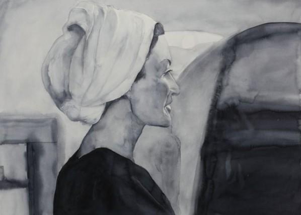 Chen Xiaohu, Portrait No.8; pianting, 80x110cm