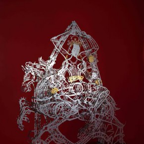 """Hsi Shih Pin Holy Mother 2014 Stainless Steel and Titanium Plating 140x185x60cm 2 290x290 - Soka Art Center announces """"Circus Maximus"""" Hsi Shih-Pin Solo Exhibition opening on March 7"""