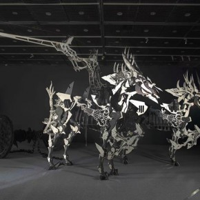 """Hsi Shih Pin Platos Carriage of Soul 2014 Stainless Steel Wood and Paint 330x550x200cm2 290x290 - Soka Art Center announces """"Circus Maximus"""" Hsi Shih-Pin Solo Exhibition opening on March 7"""