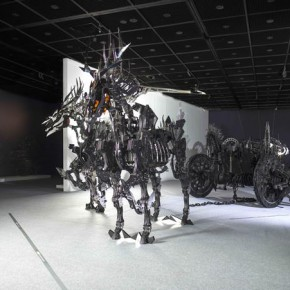 """Hsi Shih Pin Platos Carriage of Soul 2014 Stainless Steel Wood and Paint 330x550x200cm3 290x290 - Soka Art Center announces """"Circus Maximus"""" Hsi Shih-Pin Solo Exhibition opening on March 7"""