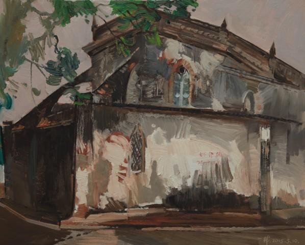 01 Ding Yilin, The Old Church of Weizhou Island, 65 x 80 cm